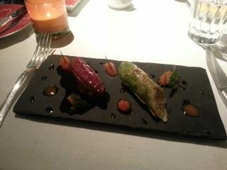 Pigeon rôti à la réglisse, restaurant la Bauhinia - Hôtel Shangri-La, Paris 16ème