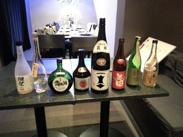 8 koshu (saké vieilli) de dégustation