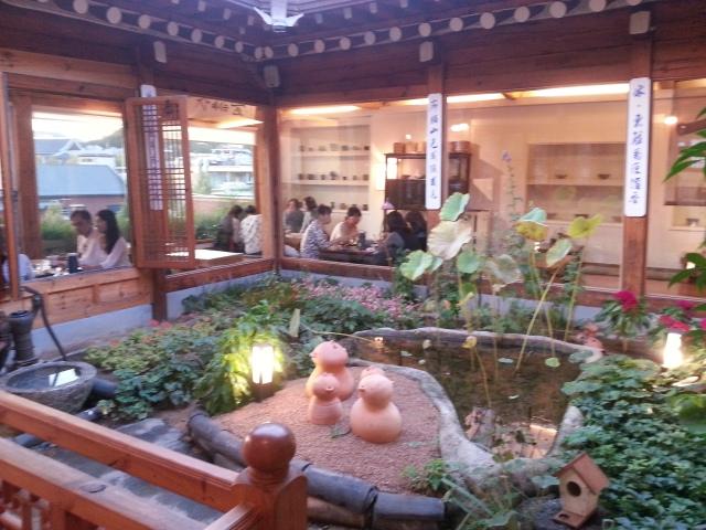 Maison de thé Cha Masineun Tteul, quartier de Bukchon, Seoul Corée