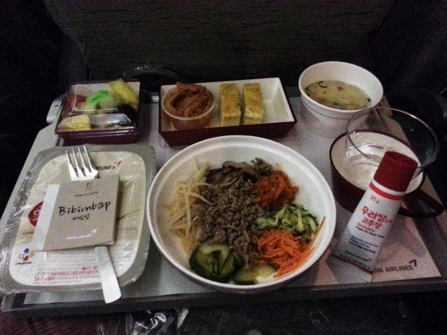 Plateau repas - Corée - Asiana